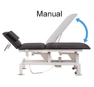 Ajuste del reposapiernas-Camilla eléctrica fisioterapia TAE03-TRONWIND