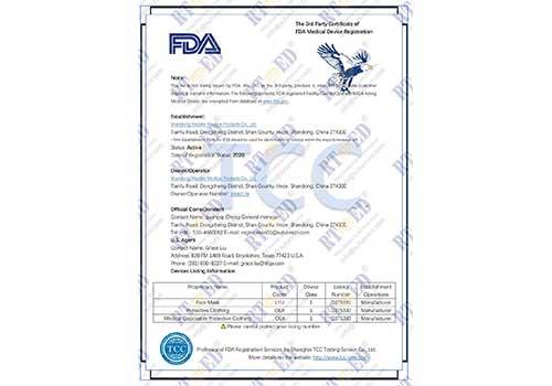 Mascarilla quirúrgica desechable aprobada por la FDA