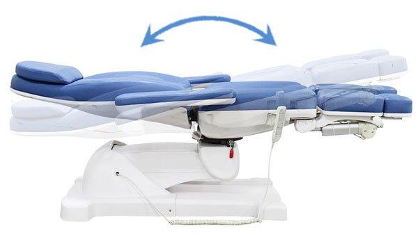 Sillón podológico TRA02-Ajuste de inclinación