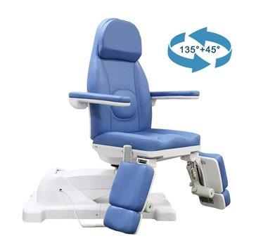 Silla-giratoria-de-podología-sillón-de-belleza-TRA02-Ajuste-giratorio-180 grados