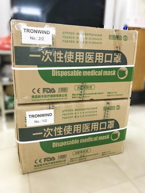 Suministro de mascarilla quirúrgica médica desechable aprobada por el gobierno chino